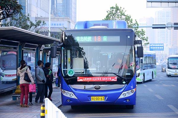 В «Поднебесной» беспилотные автобусы начали исполнять пробные маршруты