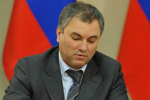 Путин предлагает сделать председателем Государственной думы Володина