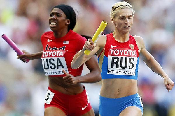 IAAF лишила сборную Российской Федерации золота ЧМ-2013 вженской эстафете 4х400 м