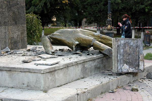 ВСудаке неизвестные снесли монумент Ленину