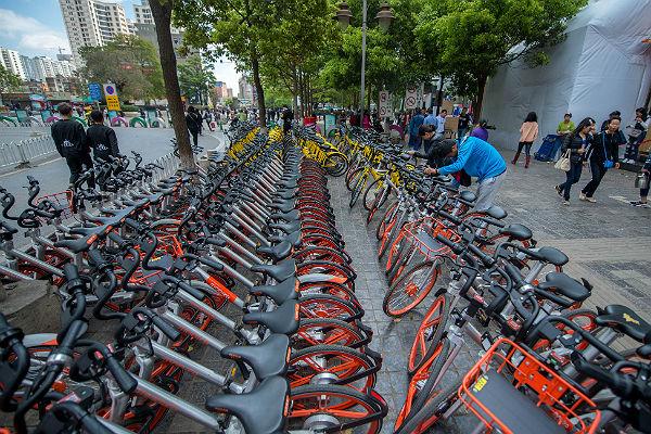 Власти Пекина приостановили размещение новых общественных велосипедов