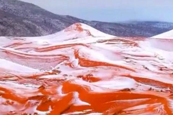 Главный синоптик страны разъяснил снегопады впустыне Сахара