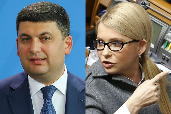 Премьер Украины предложил отдать Тимошенко вместо денежных средств загаз