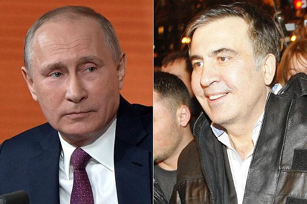 Путин назвал действия Саакашвили вгосударстве Украина плевком всторону 2-х народов