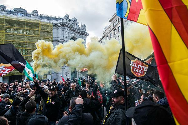 забастовка таксистов в Испании