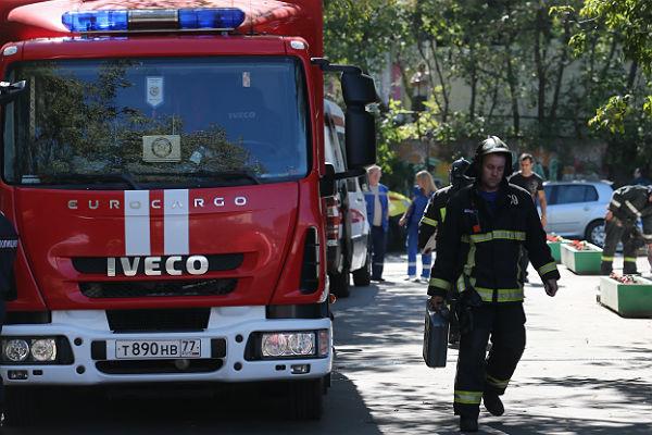 В помещении  института РАН в столице  произошел пожар