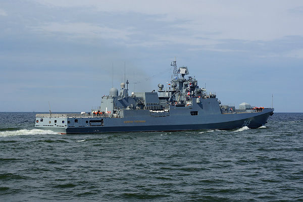 Фрегат «Адмирал Григорович» движется кберегам Сирии