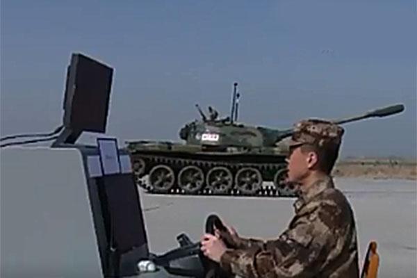 ВКитае начали тестировать беспилотные танки