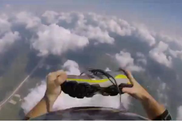 Порно в воздухе с парашутом
