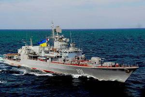 Флагман ВМС Украины сломался сразу после ремонта на заводе Порошенко